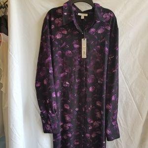 Prologue Purple Floral Dress XXL NWT